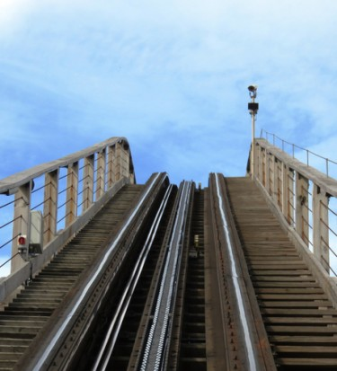 Wooden roller coaster ride -Reach the top